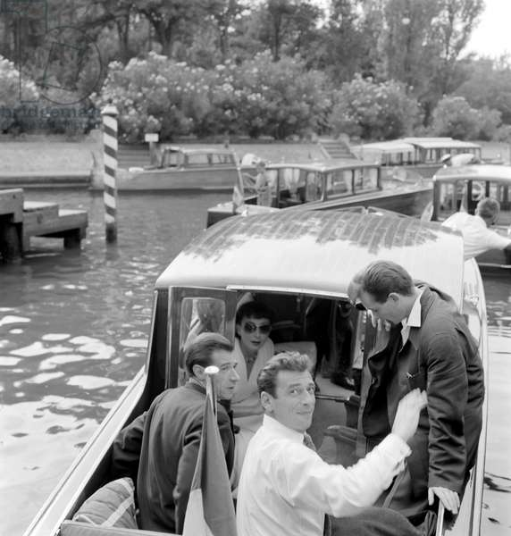 THE POP SINGER AND ACTOR YVES MONTAND AT VENICE LIDO - 1955
