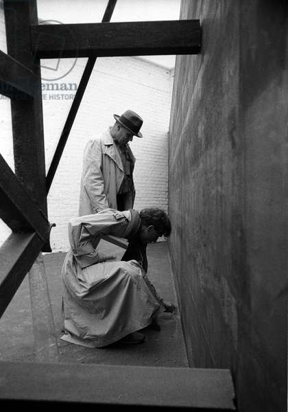 Venice 1980 portrait of Joseph Beuys and Anselm Kiefer