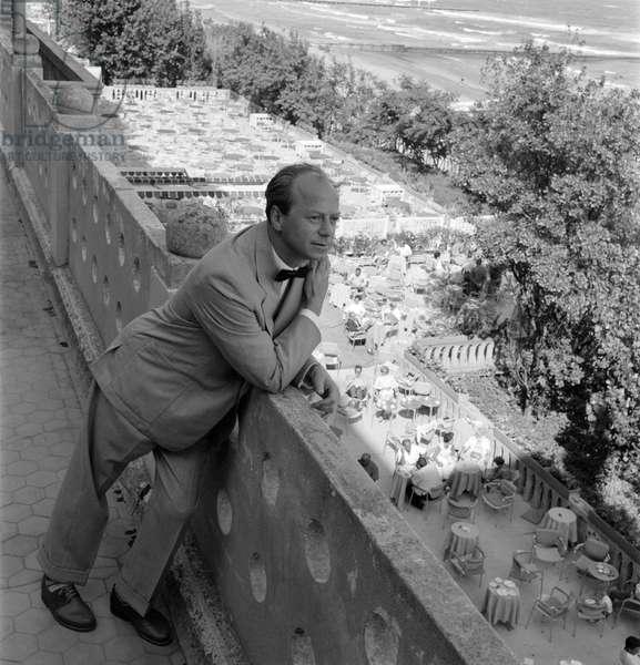 THE DIRECTOR IURI (Youri) EGOROV IN VENICE LIDO - 1957