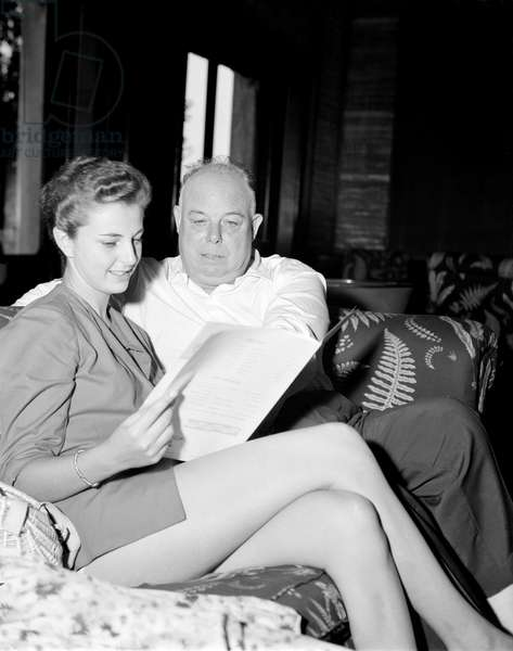 THE DIRECTOR JEAN RENOIR AND THE ACTRESS LUCIANA VEDOVINI - 1951