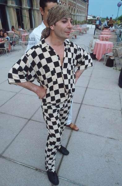 The choreographer mime Lindsay Kemp in 1983