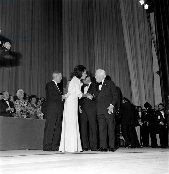 THE ACTOR CHARLIE CHAPLIN AT THE XXXIII INTERNATIONAL FILM FESTIVAL IN VENICE LIDO - 1972