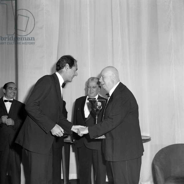 French realizer JEAN RENOIR receives an award honouring his work in Venice in 1968
