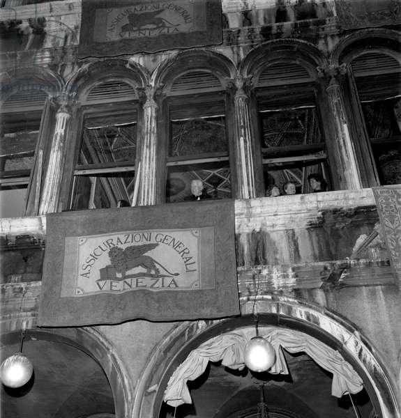 THE ACTOR CHARLIE CHAPLIN IN SAINT MARK'S SQUARE IN VENICE - XXXIII INTERNATIONAL FILM FESTIVAL - 1972