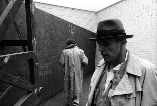 Venice 1980 portrait of Joseph Beuys and Anselm Kiefer (from back)
