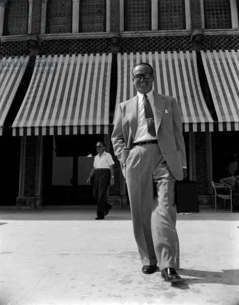 THE ACTOR HAROLD LLOYD IN VENICE - 1951