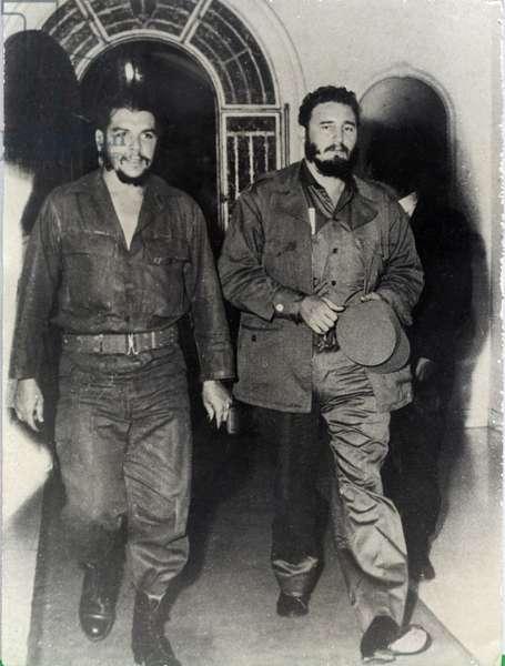 ERNESTO CHE GUEVARA and FIDEL CASTRO in Havana, CUBA, 1959