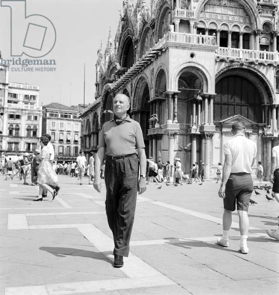 THE POLITICIAN OSWALD MOSLEY IN VENICE - 1963