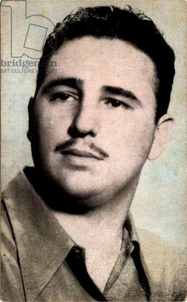 CUBA, HAVANA 1955, THE PRESIDENT OF REPUBLIC OF CUBA, FIDEL CASTRO RUZ