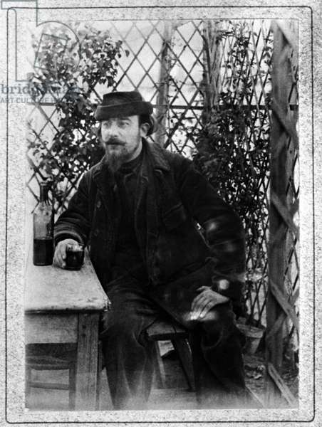 Portrait of the French composer ERIK SATIE (1866-1925) Debut of the 20th century