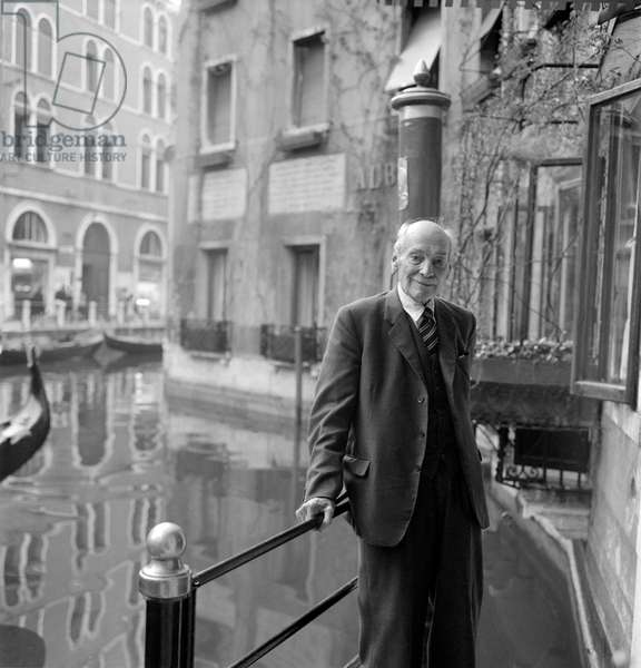 THE FORMER ENGLISH PRIME MINISTER CLEMENT RICHARD ATTLEE IN VENICE - 1963