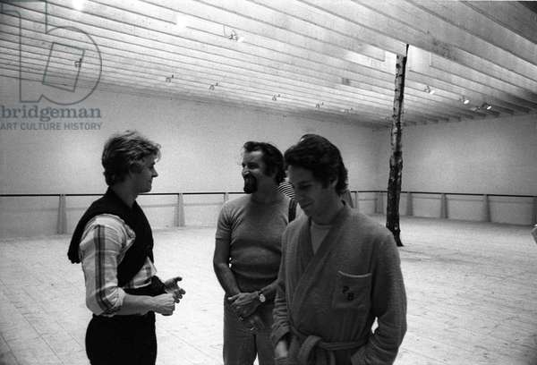 Venice 1975 choregrapher MAURICE BEJART and dancer MIKHAIL BARYSHNIKOV (Barychnikov)