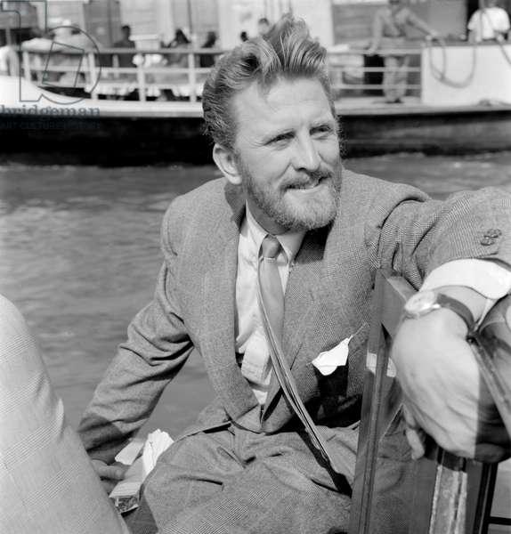 THE ACTOR KIRK DOUGLAS IN VENICE - 1953
