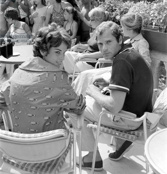 THE ACTRESS ANTONELLA LUALDI AT XIX INTERNATIONAL FILM FESTIVAL OF VENICE WITH THE ACTOR CHRISTIAN MARQUAND - 1958