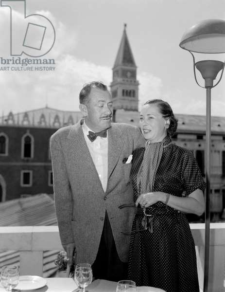 THE WRITER JOHN STEINBECK AND HIS WIFE IN VENICE - 1952