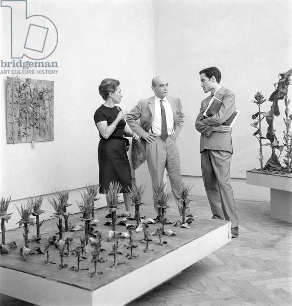 THE PAINTER AND SCULPTOR LUCIO FONTANA AT THE XXXIII INTERNATIONAL ART EXHIBITION IN VENICE - 1966-