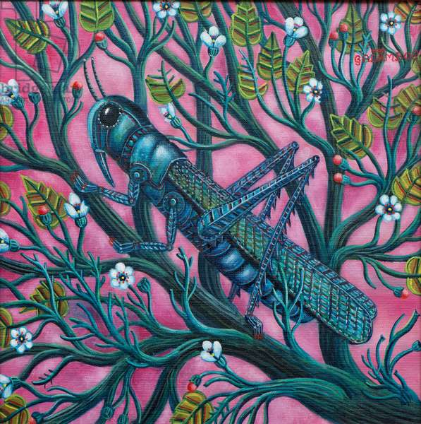 Grasshopper, 2009 (oil on canvas)