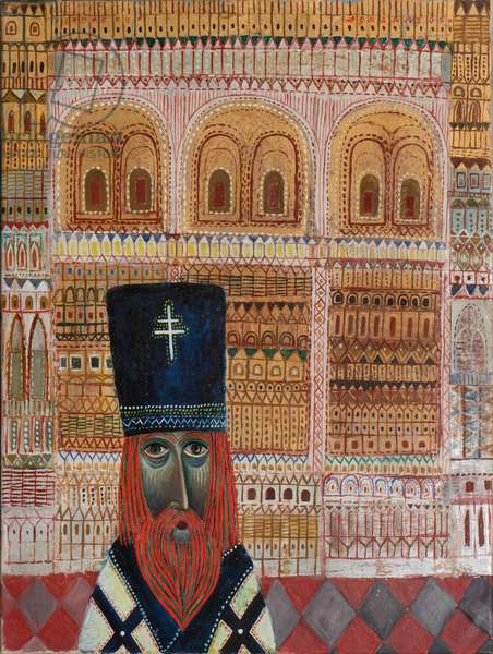 High Priest, 1969 (oil & gold leaf on canvas)