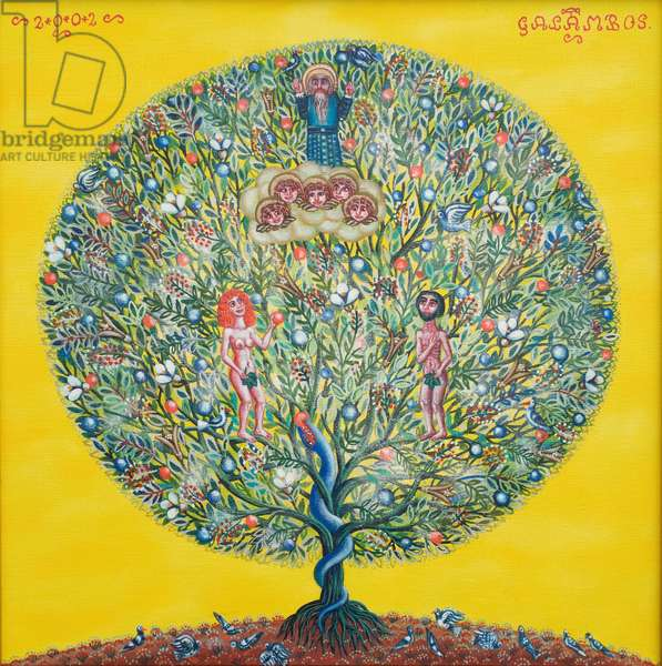 Adam and Eve (Tree of Life), 2002 (oil on canvas)