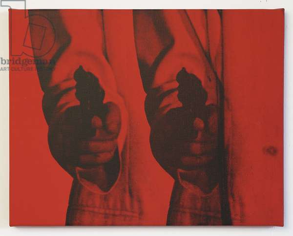 Double Red Pop Gun, 2011 (silkscreen)