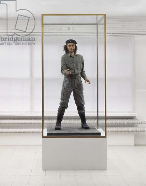 Che, 1999 (waxwork in brass, wood & glass vitrine)