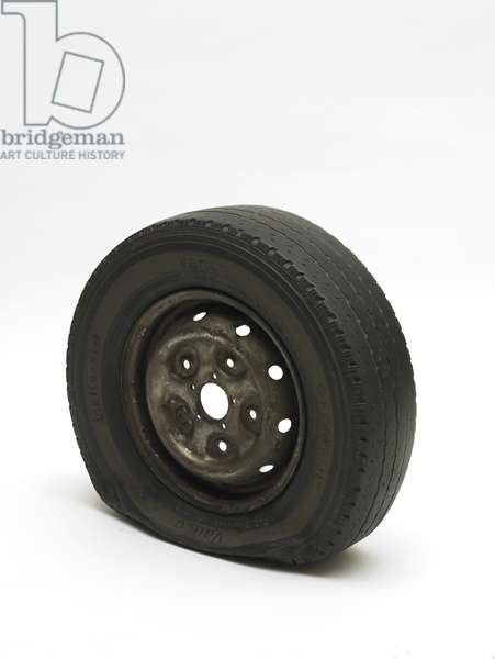 Flat Tyre, 2013 (painted bronze)