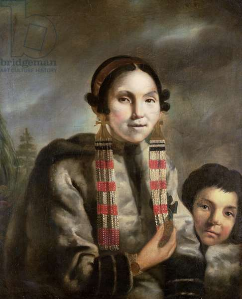 Portrait of Micoc and her Son Tootac, c.1769 (oil on canvas)