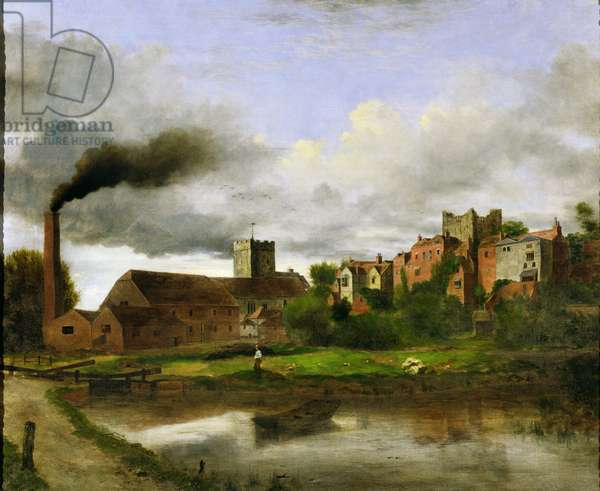 St. Mary's, Guildford (oil on canvas)