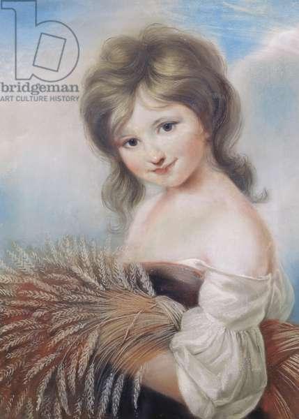 The Harvest Girl, c.1780 (pastel)