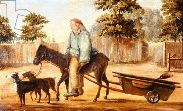 The Eccentric Billy Hicks, Shere, 1854 (oil on canvas)