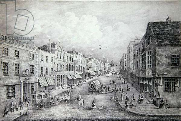 The High Street, Guildford, Surrey, 1877 (litho)