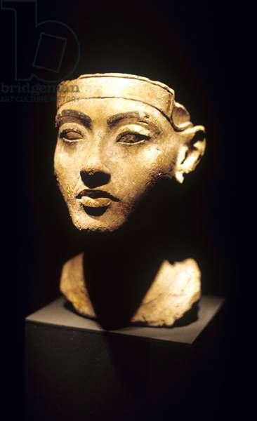 Tutankhamun head, Amarna, Limestone, 14th cent, BC