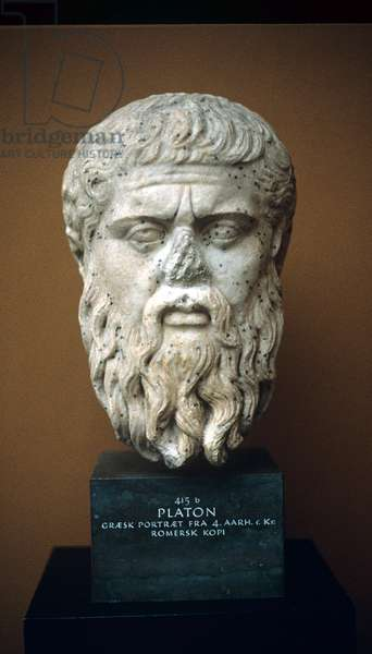 Plato, portrait bust, 4th cent, BC, Roman copy of Greek original,