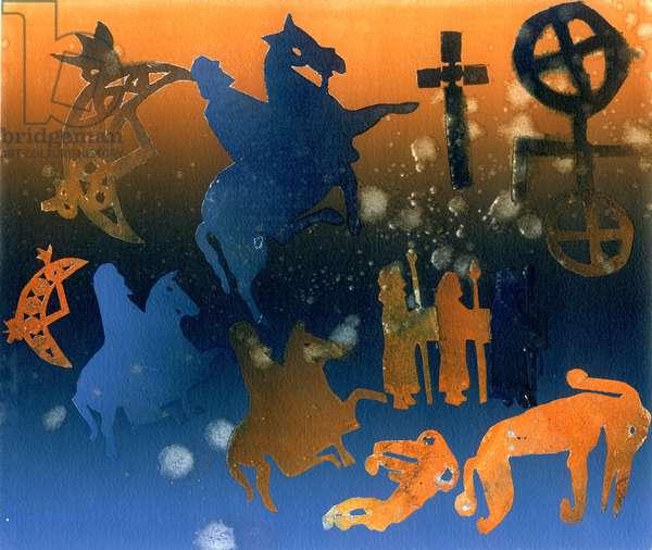 Pictish Ceremony (monotype)