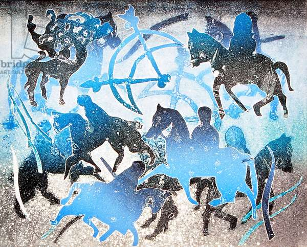 Blue Riders, 2000 (monoprint)