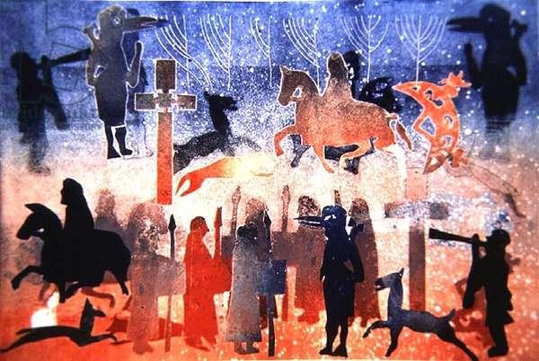 Celtic Celebrations, 1996 (monotype)