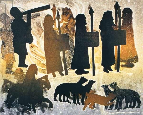 Pictish Journey, 2000 (monoprint)