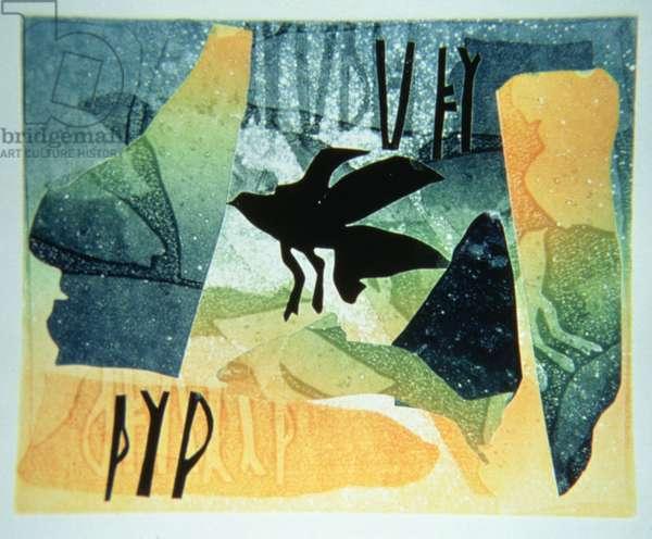 Pictish Raven, 1994 (monotype)