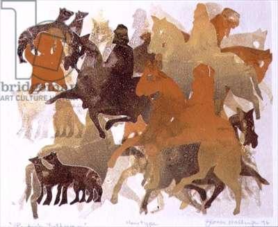 Pictish Gathering, 1996 (monotype)