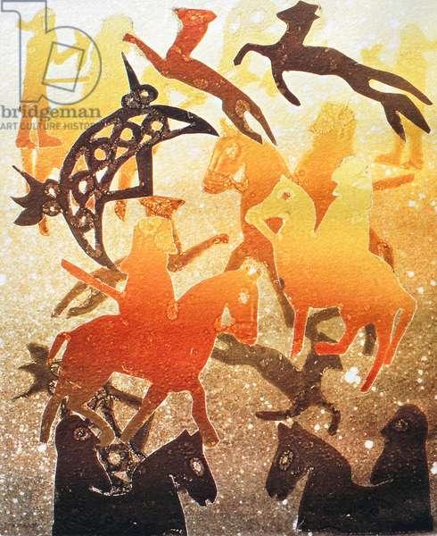 Pictish Hunt 2000 (monoprint)
