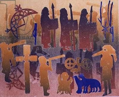 Pictish Ceremony, 1996 (monotype)