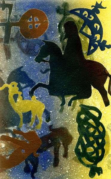 Pictish Horsemen (monotype)