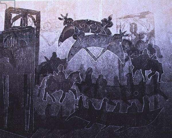 Cossans II, 1994 (monotype)