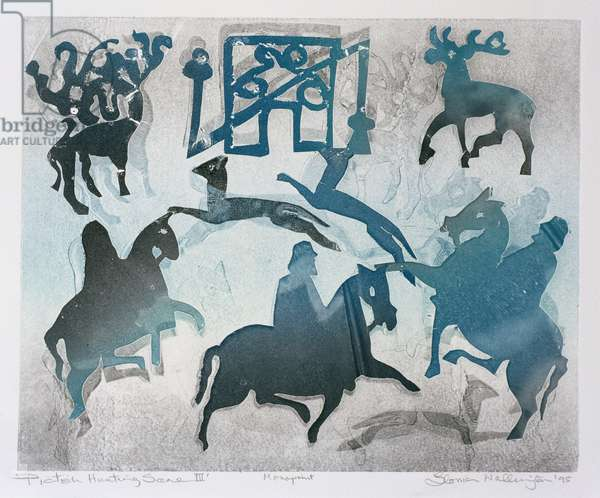 Pictish Hunting Scene III, 1995 (monotype)