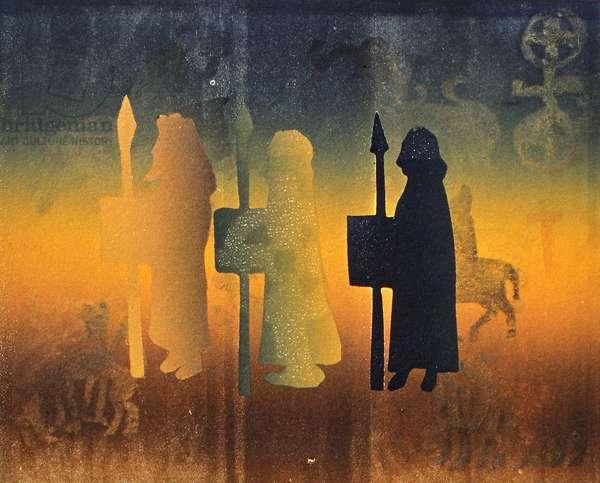 Holy Ground, 2000 (monoprint)