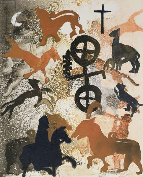 Pictish Symbols of Stone, 1995 (monotype)