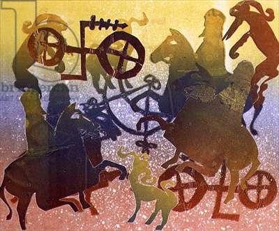 Pictish Hunt (monotype)