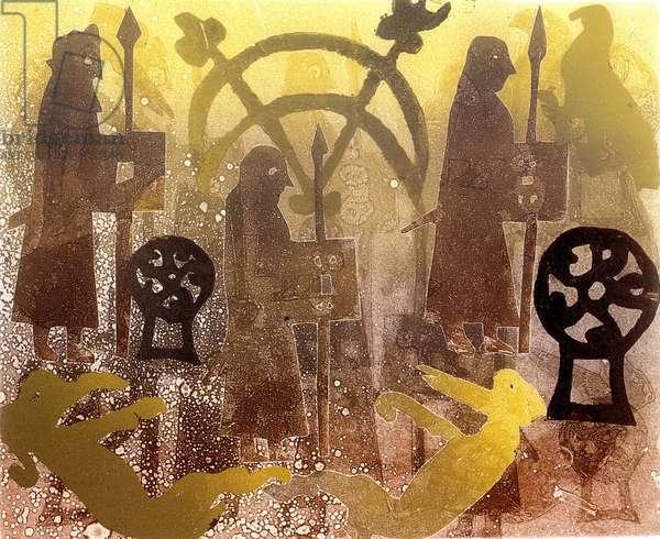 Pictish Birsay Stone (print)