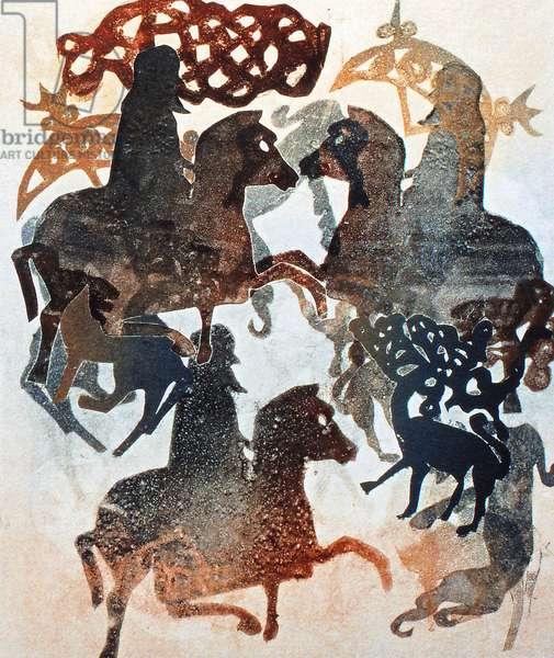 Meigle 11, 2000(monoprint)