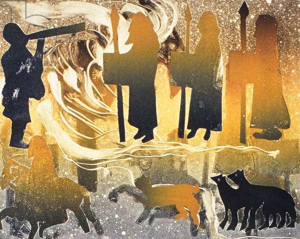 Pictish Melody, 2000(monoprint)